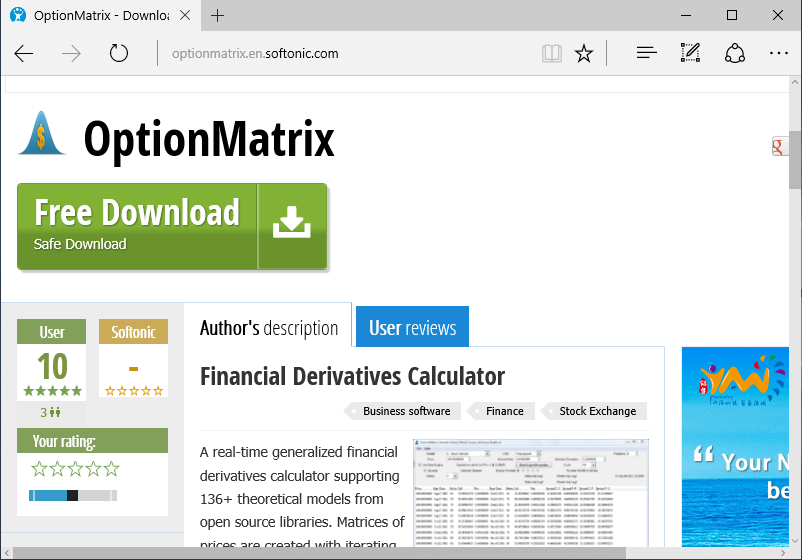 screenshot_optionmatrix_free_download_winhome_01